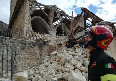 Campi, Chiesa di S. Andrea dopo sisma 2016