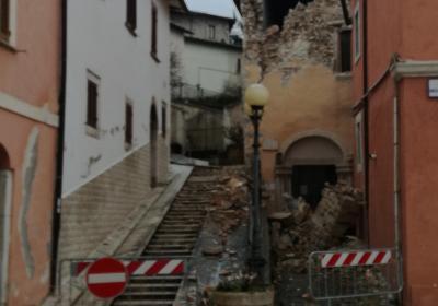 Preci -- Sede scuola chirurgica preciana dopo sisma 2016