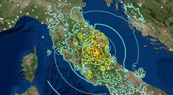 Epicentro sisma 2016 (Centro Italia)
