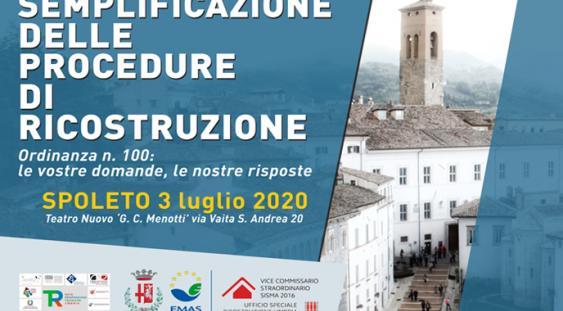 Programma iniziativa  di Spoleto del 3 luglio 2020